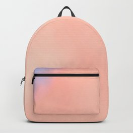Fluffy glowing rose white clouds Backpack