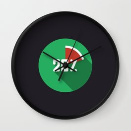 "Illustration ""percentage - 20%"" with long shadow in new modern flat design Wall Clock"