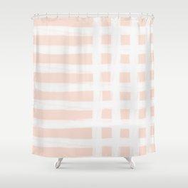 Blush Gross Stripes No.1 Shower Curtain