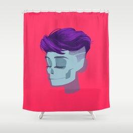 see through girl 2 Shower Curtain