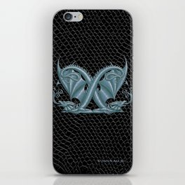 Dragon Letter X, from Dracoserific a font full of Dragons iPhone Skin