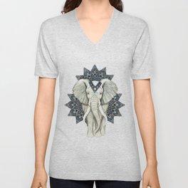 Zen Elephant Mandala Unisex V-Neck