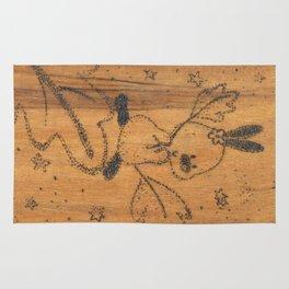 Cute little animal on wood Rug