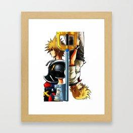 Sora / Roxas fanart Framed Art Print