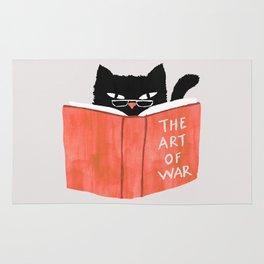 Cat reading book Rug