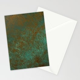 Green Patina Copper rustic decor Stationery Cards