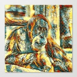 AnimalArt_OrangUtan_20180203_by_JAMColorsSpecial Canvas Print