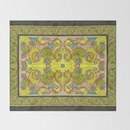 Green & yellow pattern Throw Blanket