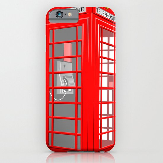 RED PHONE BOOTH iPhone & iPod Case