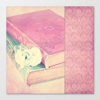 books Canvas Prints featuring BOOKS by INA FineArt