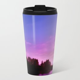 Northern Lights at Sunset Travel Mug