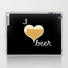 I love Beer white text Laptop & iPad Skin