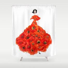 Fashion poppies Shower Curtain