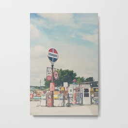 Bob's Gasoline Alley ... Metal Print