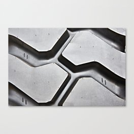 Black rubber tire background Canvas Print