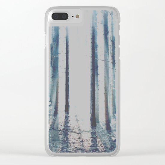 Watercolor Forest Clear iPhone Case
