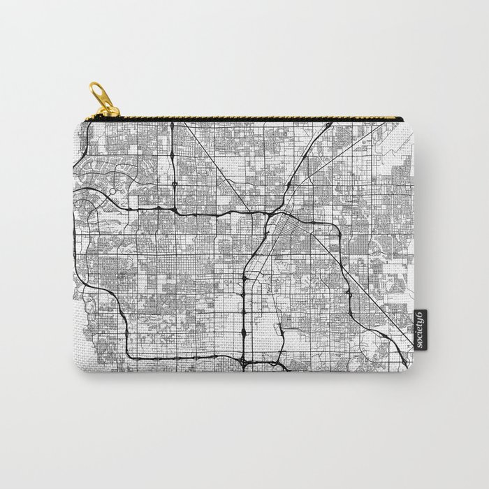 Minimal City Maps - Map Of Las Vegas, Nevada, United States Carry-All Pouch