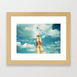 Sky rocket Framed Art Print