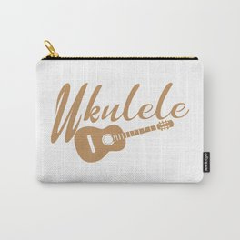 Ukulele Player Gift Hazel Retro Handwriting and drawi Carry-All Pouch