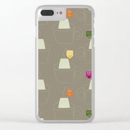 Tea time - Fabric pattern Clear iPhone Case