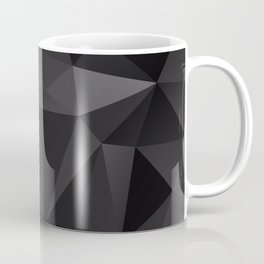 Abstract of triangles polygo in black colors Coffee Mug