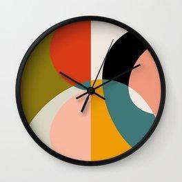 geometry shapes 3 Wall Clock