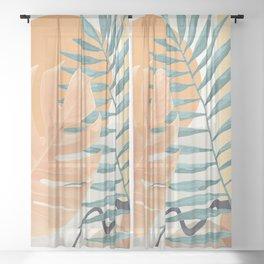 Abstract Tropical Art XI Sheer Curtain