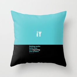 Lab No. 4 - Just improving your product Joel Spolsky Corporate Startup Quotes Poster Throw Pillow