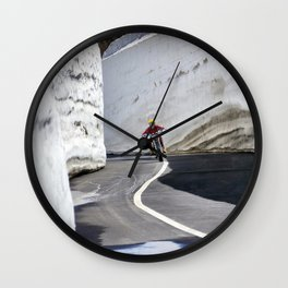 Café racer Wall Clock