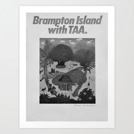 retro Brampton Island Art Print