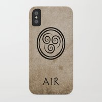 avatar the last airbender iPhone & iPod Cases featuring Avatar Last Airbender - Air by bdubzgear
