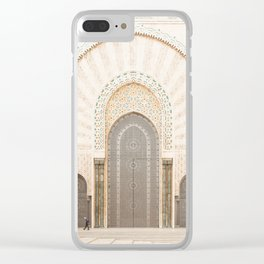 Perspective - Hassan II Mosque - Casablanca, Morocco Clear iPhone Case