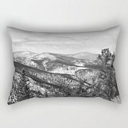 The Mountains B&W Rectangular Pillow