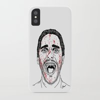 american psycho iPhone & iPod Cases featuring American Psycho. by Saul Art