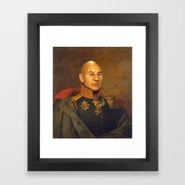 Sir Patrick Stewart - replaceface Framed Art Print