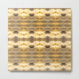 GoldRays Metal Print