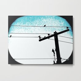 Power lines 507 Metal Print