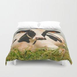Holstein cow facing camera Duvet Cover