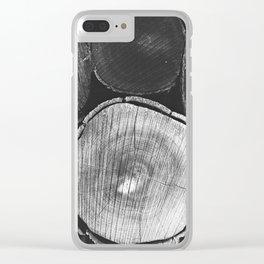 logs Clear iPhone Case