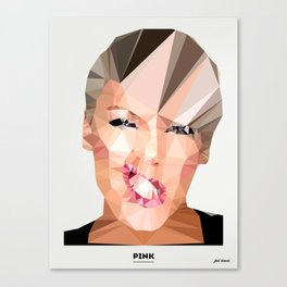 Pink Poly Canvas Print