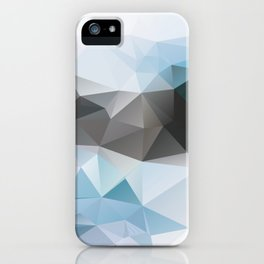 Blue Poly iPhone Case