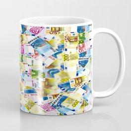 Colorful Euros Pattern - Money - LOA - Abundance - Cash Coffee Mug