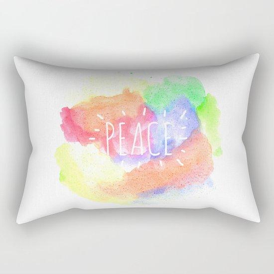 peace watercolour Rectangular Pillow