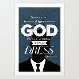 Mad Men Typographic poster - Roger Art Print
