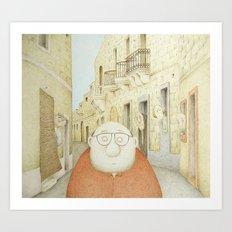Da Mhux mir-Raħal (We don't like strangers around here...) Art Print