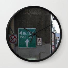 West/East Wall Clock