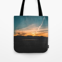 Sky on Fire || Dry Lake Bed Tote Bag