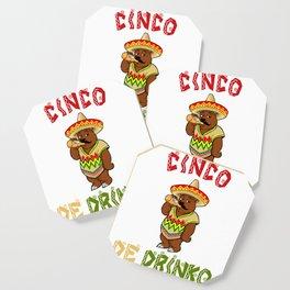 Cinco De Drinko - California Bear - Cinco De Mayo Coaster