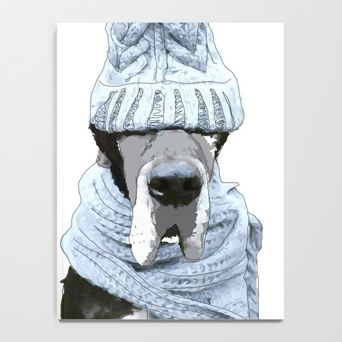 Great Dane Winter is Here Notebook