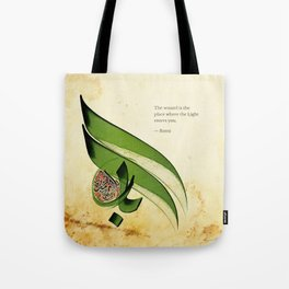 Arabic Calligraphy - Rumi - Light Tote Bag